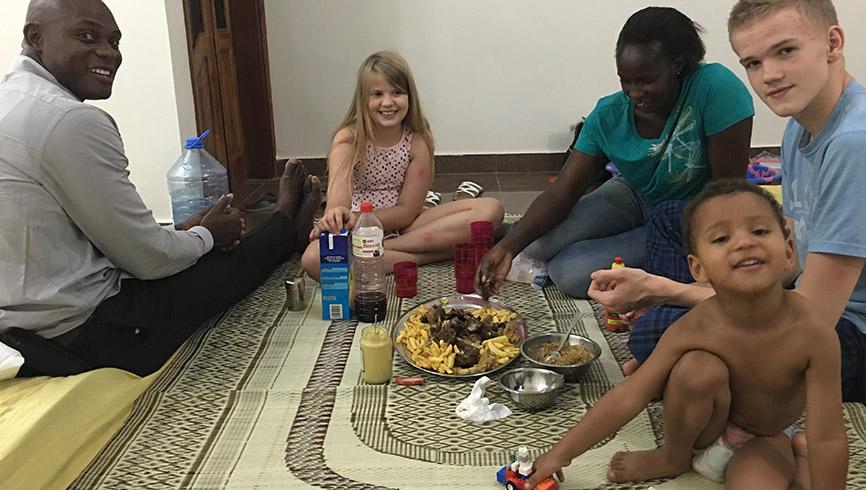Dinner time in Africa