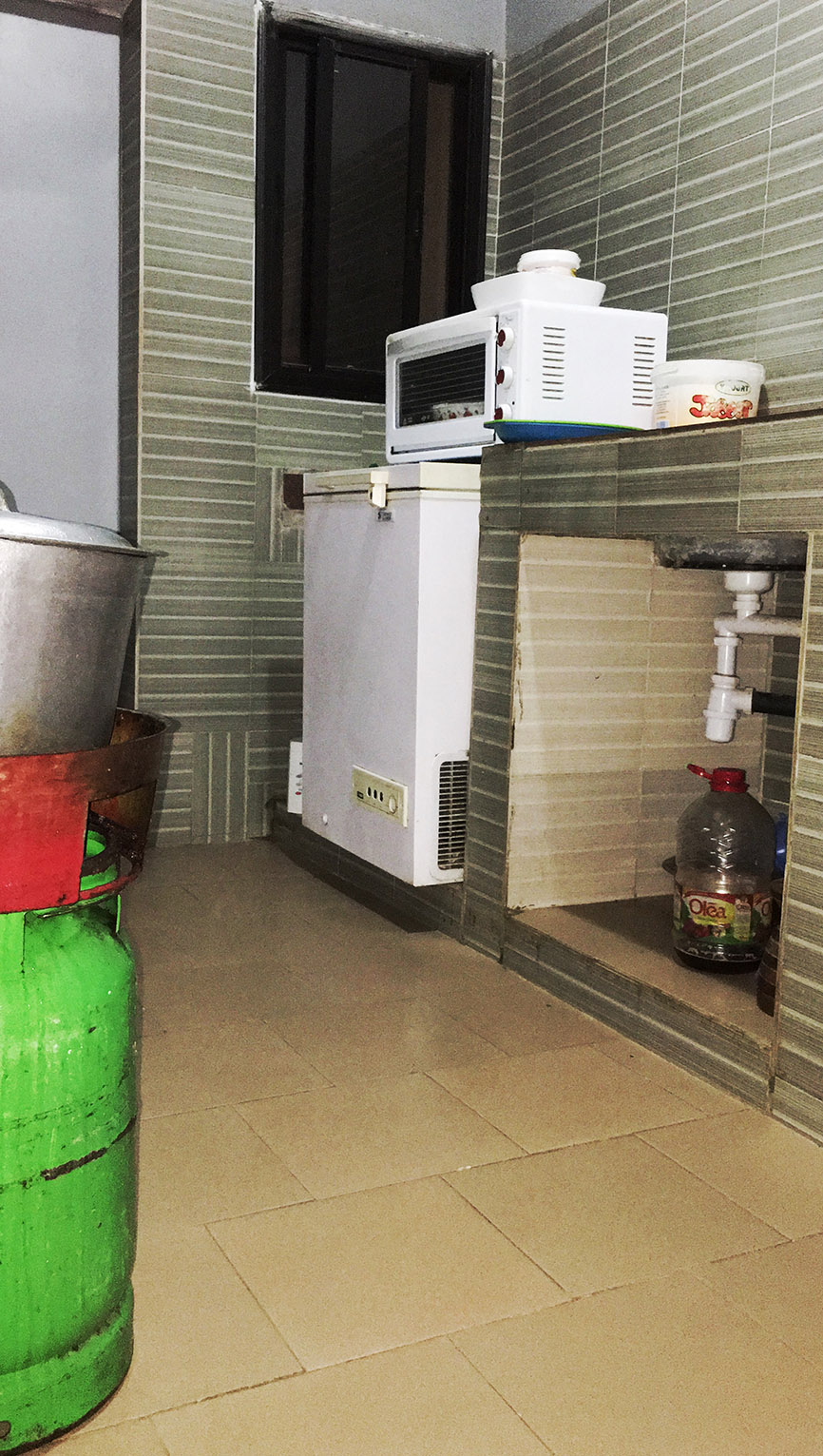 Simple kitchen in Africa for family of 8