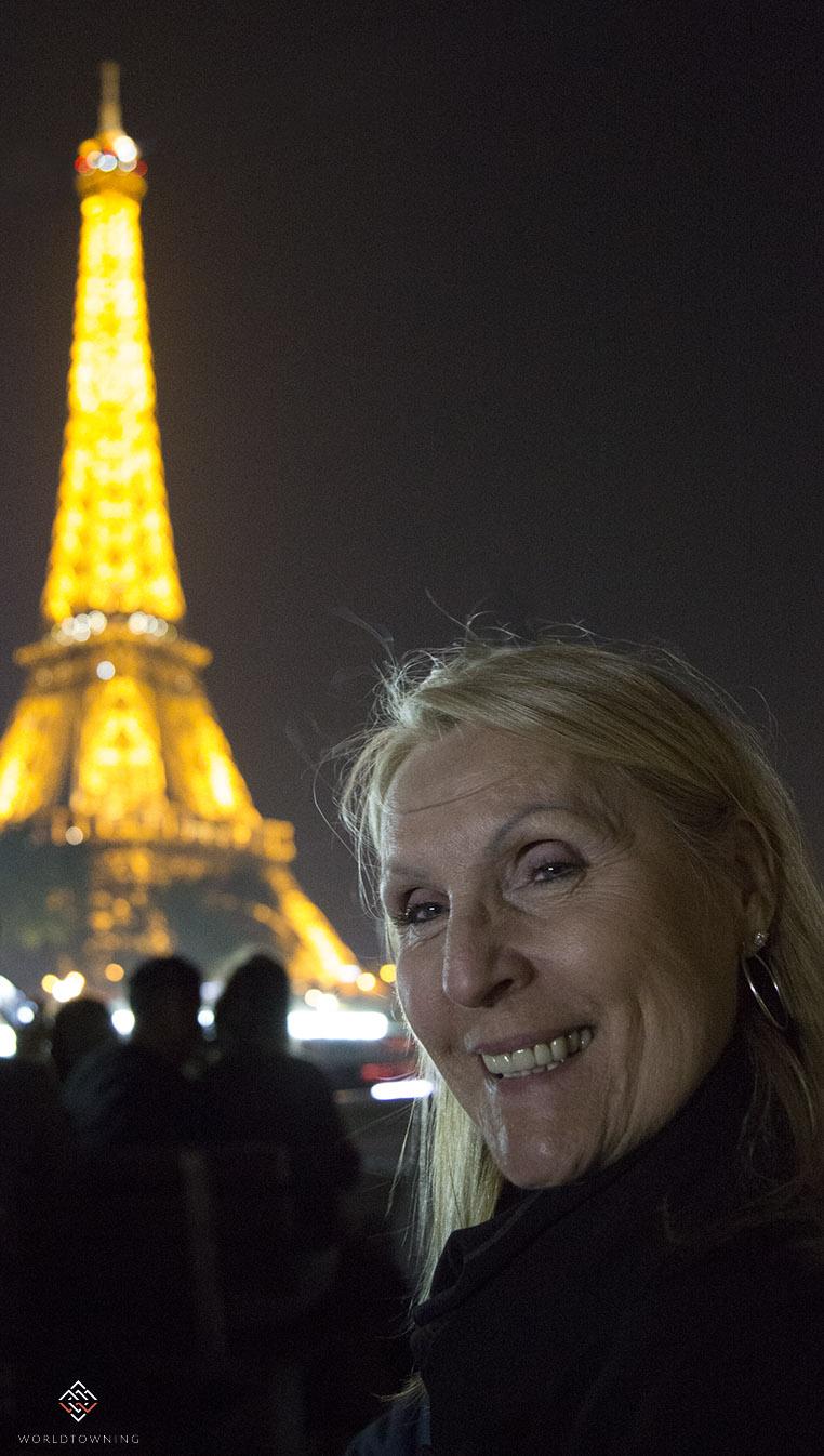 Eiffel Tower Night Portrait