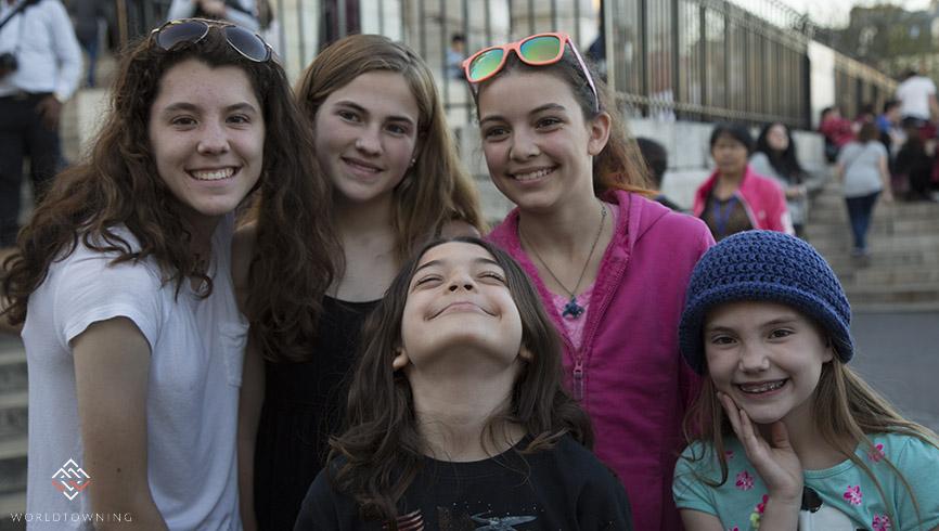 Traveling kids in Paris